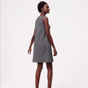 Loft Petite Chevron Herringbone Tweed Sheath Dress